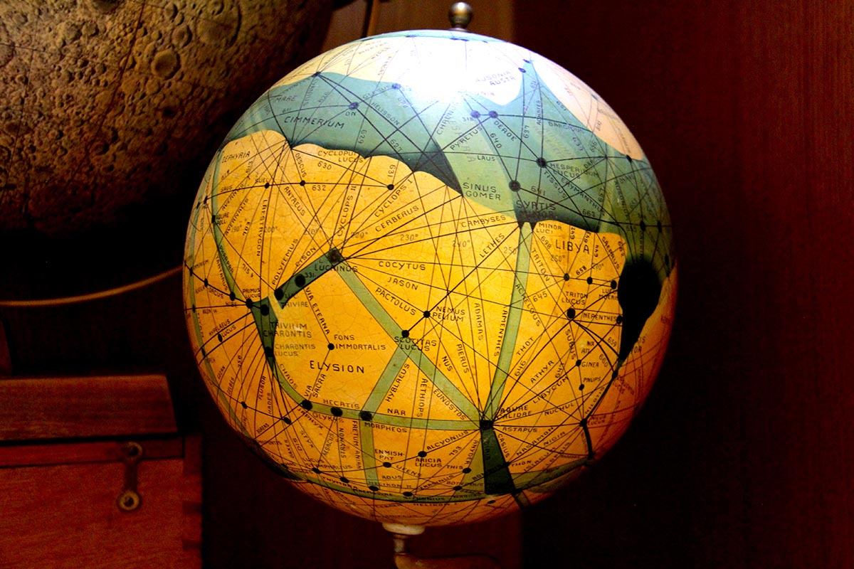 """Early Globe charts Mars - Vatican Astronomy Collection"", photograph"